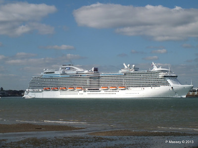 ROYAL PRINCESS Departing Southampton PDM 09-06-2013 17-19-55