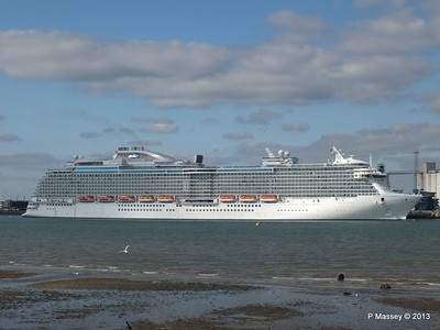 ROYAL PRINCESS Departing Southampton PDM 09-06-2013 17-20-48
