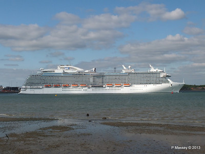 ROYAL PRINCESS Departing Southampton PDM 09-06-2013 17-21-28