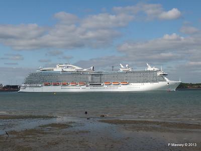 ROYAL PRINCESS Departing Southampton PDM 09-06-2013 17-21-28