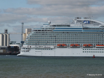 ROYAL PRINCESS Departing Southampton PDM 09-06-2013 17-22-18