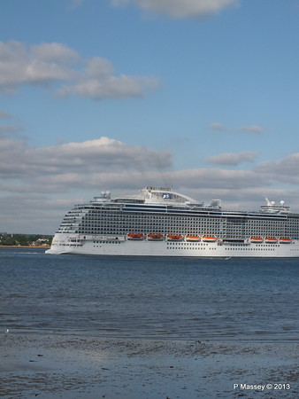 ROYAL PRINCESS Departing Southampton PDM 09-06-2013 17-23-25