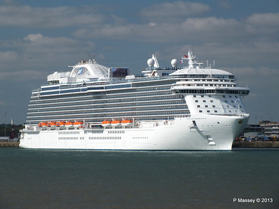 ROYAL PRINCESS Departing Southampton PDM 09-06-2013 17-18-00