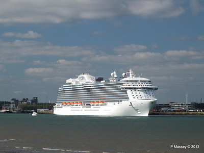 ROYAL PRINCESS Departing Southampton PDM 09-06-2013 17-17-53