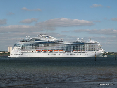 ROYAL PRINCESS Departing Southampton PDM 09-06-2013 17-23-53