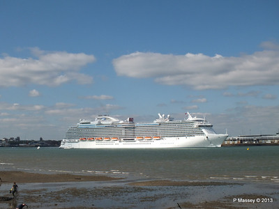 ROYAL PRINCESS Departing Southampton PDM 09-06-2013 17-19-52