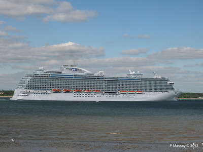 ROYAL PRINCESS Departing Southampton PDM 09-06-2013 17-23-14