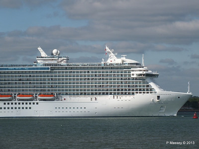 ROYAL PRINCESS Departing Southampton PDM 09-06-2013 17-21-20