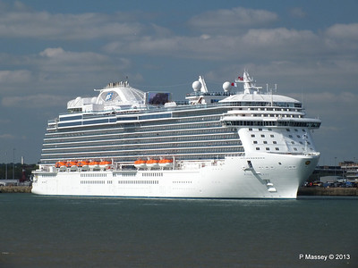 ROYAL PRINCESS Departing Southampton PDM 09-06-2013 17-17-57