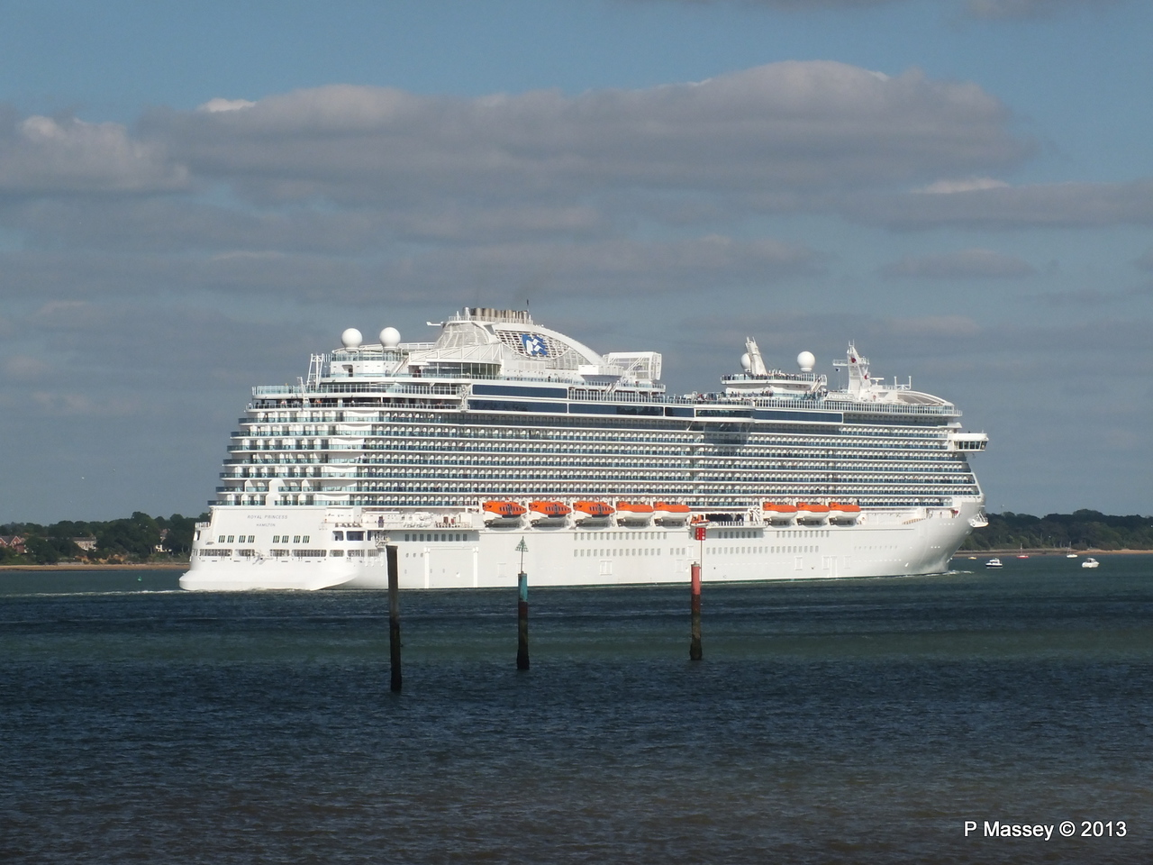 ROYAL PRINCESS Departing Southampton PDM 09-06-2013 17-25-23
