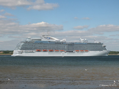 ROYAL PRINCESS Departing Southampton PDM 09-06-2013 17-23-16