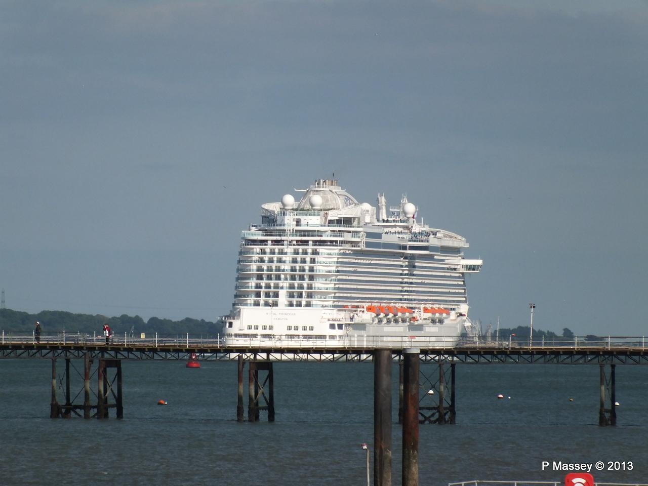 ROYAL PRINCESS Departing Southampton PDM 09-06-2013 17-31-06