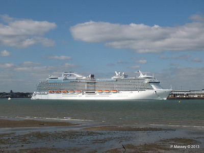 ROYAL PRINCESS Departing Southampton PDM 09-06-2013 17-19-59