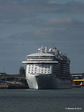 ROYAL PRINCESS Departing Southampton PDM 09-06-2013 17-12-40