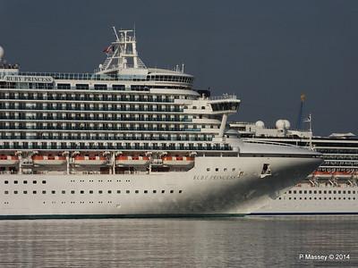 RUBY PRINCESS Passes COSTA MEDITERRANEA Southampton PDM 08-09-2014 17-41-031