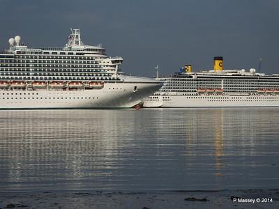 RUBY PRINCESS Passes COSTA MEDITERRANEA Southampton PDM 08-09-2014 17-41-005