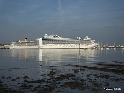 RUBY PRINCESS Passes COSTA MEDITERRANEA Southampton PDM 08-09-2014 17-43-03