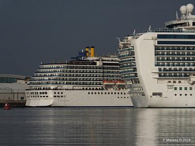 RUBY PRINCESS Passes COSTA MEDITERRANEA Southampton PDM 08-09-2014 17-42-052