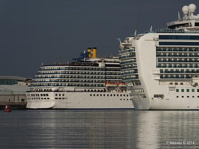 RUBY PRINCESS Passes COSTA MEDITERRANEA Southampton PDM 08-09-2014 17-42-051