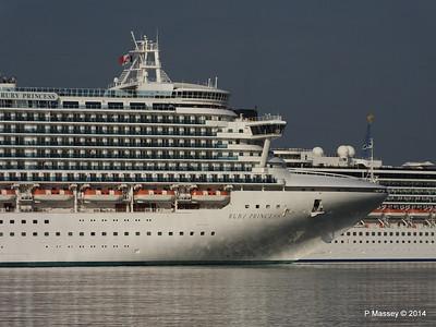 RUBY PRINCESS Passes COSTA MEDITERRANEA Southampton PDM 08-09-2014 17-41-030