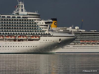 RUBY PRINCESS Passes COSTA MEDITERRANEA Southampton PDM 08-09-2014 17-41-026