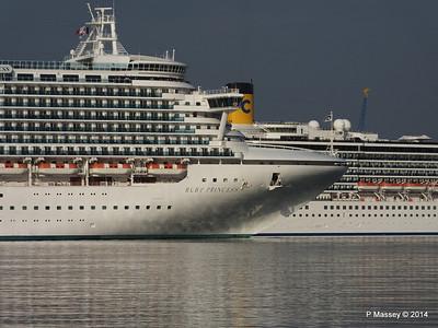 RUBY PRINCESS Passes COSTA MEDITERRANEA Southampton PDM 08-09-2014 17-41-027