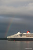 Rainbow QM2 Remastered Departing Southampton for New York PDM 23-06-2016 20-15-03