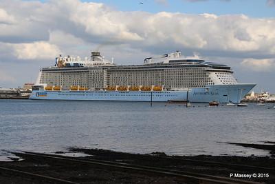 ANTHEM OF THE SEAS Departing Southampton PDM 15-08-2015 16-52-54
