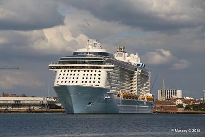 ANTHEM OF THE SEAS Departing Southampton PDM 15-08-2015 16-50-00