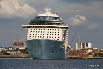 ANTHEM OF THE SEAS Departing Southampton PDM 15-08-2015 16-50-21