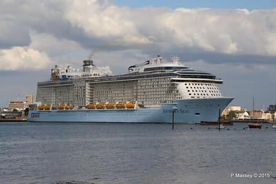 ANTHEM OF THE SEAS Departing Southampton PDM 15-08-2015 16-52-00