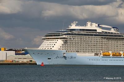 ANTHEM OF THE SEAS Departing Southampton PDM 15-08-2015 16-45-24