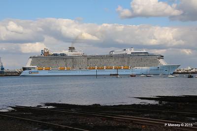 ANTHEM OF THE SEAS Departing Southampton PDM 15-08-2015 16-54-20