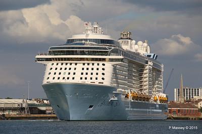 ANTHEM OF THE SEAS Departing Southampton PDM 15-08-2015 16-50-03
