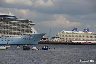 ANTHEM OF THE SEAS Passing BRITANNIA Southampton PDM 15-08-2015 16-56-32