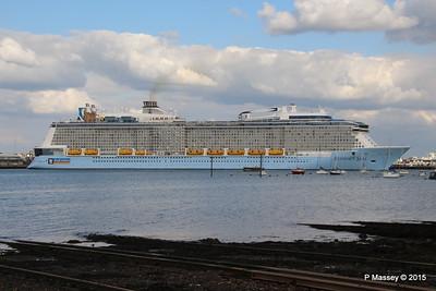 ANTHEM OF THE SEAS Departing Southampton PDM 15-08-2015 16-54-09
