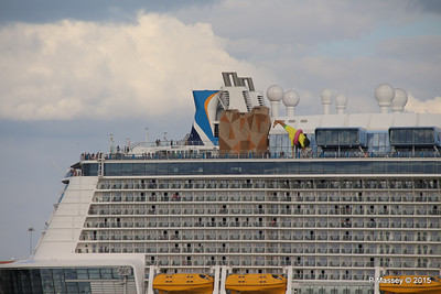 ANTHEM OF THE SEAS Departing Southampton PDM 15-08-2015 16-54-29
