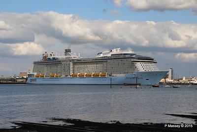 ANTHEM OF THE SEAS Departing Southampton PDM 15-08-2015 16-52-29