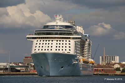 ANTHEM OF THE SEAS Departing Southampton PDM 15-08-2015 16-50-15