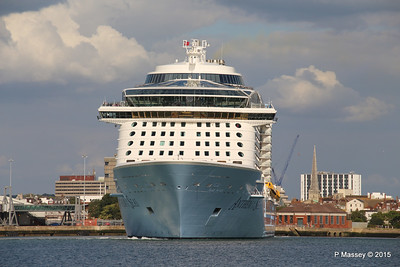 ANTHEM OF THE SEAS Departing Southampton PDM 15-08-2015 16-50-23