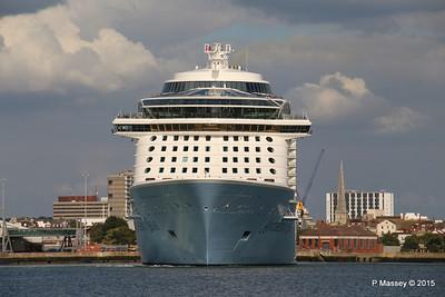 ANTHEM OF THE SEAS Departing Southampton PDM 15-08-2015 16-50-25