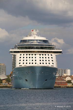 ANTHEM OF THE SEAS Departing Southampton PDM 15-08-2015 16-50-36