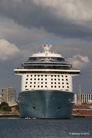 ANTHEM OF THE SEAS Departing Southampton PDM 15-08-2015 16-50-32