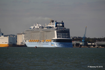 ANTHEM OF THE SEAS Departing Maiden Voyage GRANDE SCANDINAVIA Southampton PDM 22-04-2015 17-10-34