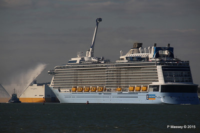 PHENIX Fire Tug ANTHEM OF THE SEAS Maiden Voyage Southampton PDM 22-04-2015 17-15-48