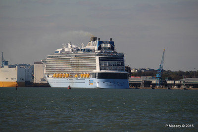 ANTHEM OF THE SEAS Departing Maiden Voyage GRANDE SCANDINAVIA Southampton PDM 22-04-2015 17-10-42