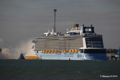 PHENIX Fire Tug ANTHEM OF THE SEAS Maiden Voyage Southampton PDM 22-04-2015 17-15-02