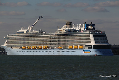 ANTHEM OF THE SEAS Departs Maiden Voyage Southampton PDM 22-04-2015 17-18-35
