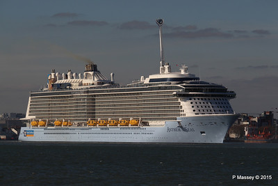 ANTHEM OF THE SEAS Maiden Voyage Departing Southampton PDM 22-04-2015 17-28-18