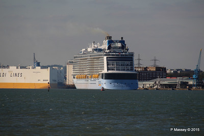 ANTHEM OF THE SEAS Departing Maiden Voyage GRANDE SCANDINAVIA Southampton PDM 22-04-2015 17-11-12